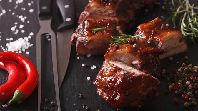 Ilustrasi daging babi (iStockphoto)