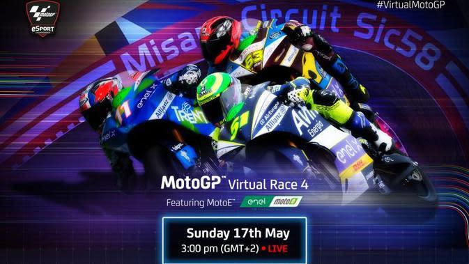 Balapan virtual MotoGP seri keempat. (MotoGP)