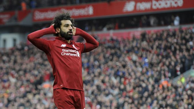 2. Mohamed Salah (Liverpool) - 19 Gol (3 Penalti). (AP/Nick Potts)