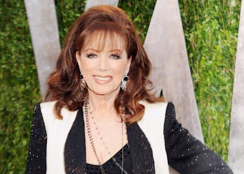 "FILE - In this Feb. 24, 2013 file photo, author Jackie Collins arrives at the 2013 Vanity Fair Oscars Viewing and After Party in West Hollywood, Calif. St. Martin's Press announced Friday that Collins' ""Confessions of a Wild Child"" will come out in February 2014. The book is a prequel to her bestselling series. Lucky, the daughter of former gangster Gino Santangelo, is 15 and ready to break out from the protected world Gino has kept her in. (Photo by Evan Agostini/Invision/AP, File)"