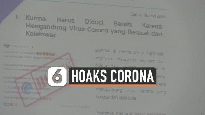 VIDEO: Kominfo Temukan 54 Hoaks soal Virus Corona di Indonesia