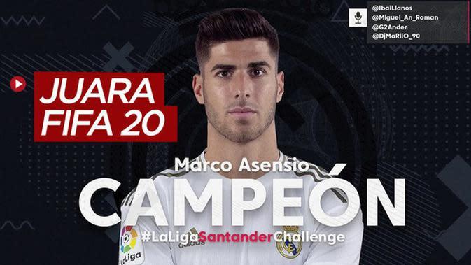 VIDEO: Marco Asensio Juara di Gim FIFA 20, Kumpulkan 2,5 Miliar Rupiah untuk Melawan COVID-19