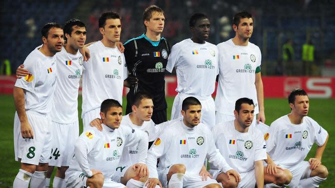 Unirea Urziceni ketika tampil di Liga Europa 2009/2010. (AFP/Daniel Mihailescu)