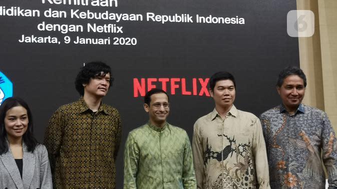 Kerja sama antara Kementerian Pendidikan dan Kebudayaan dengan Netflix. (Liputan6.com/ Agustinus Mario Damar)