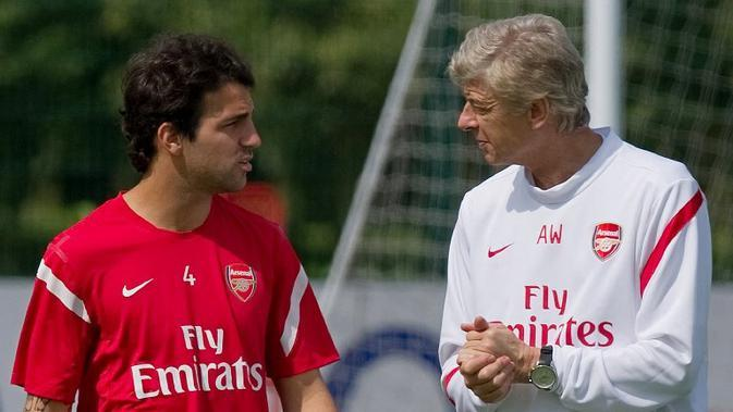 Gelandang Chelsea, Cesc Fabregas, mengaku berhutang budi pada Arsene Wenger dan mengucapkan terima kasih atas kepercayaan yang diberikan ketika masih di Arsenal. (AFP/Leon Neal)