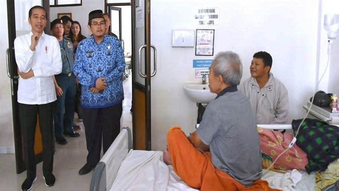Presiden Joko Widodo melakukan inspeksi mendadak (sidak) dalam kunjungan kerjanya ke Kabupaten Subang, Provinsi Jawa Barat, hari ini, Jumat, 29 November 2019. (Dok Laily Rachev - Biro Pers Sekretariat Presiden)