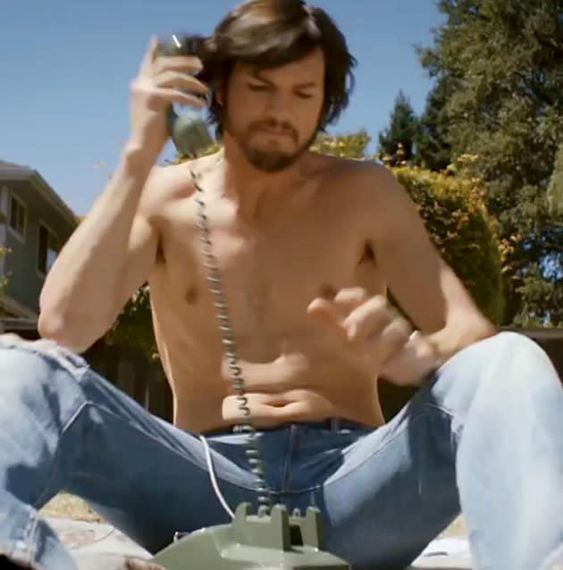 Steve's Too Sexy: Ashton Kutcher Plays Shirtless Geek-Stud in 'Jobs' Trailer