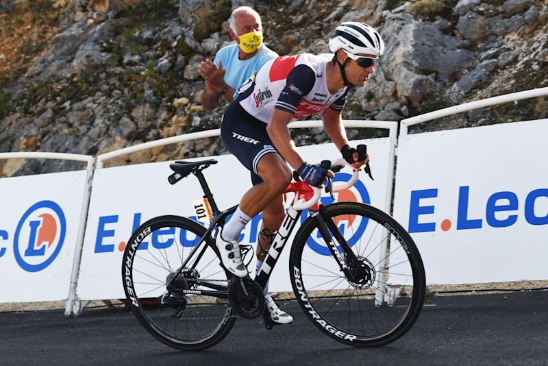 Trek-Segafredo's Richie Porte rode to third place on stage 15, which finished on the Grand Colombier, and moved the Australian climber up to sixth overall at the 2020 Tour de France