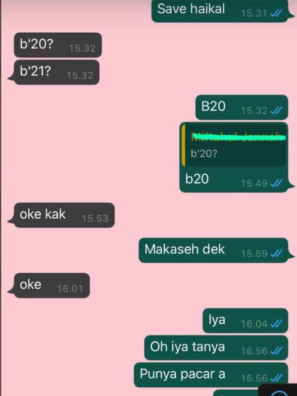 Chat PDKT (Sumber: Twitter/hemiya3)