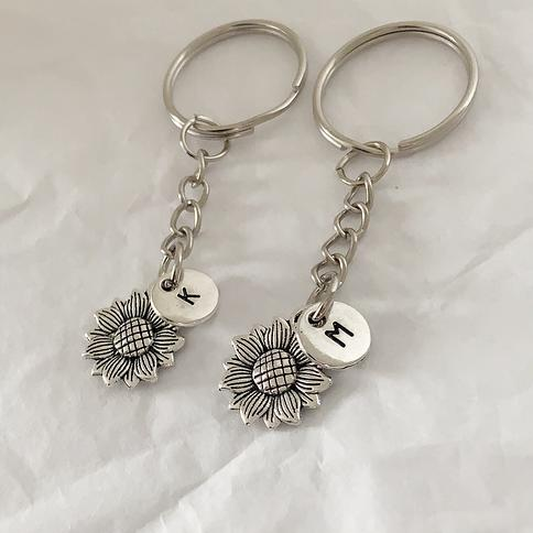 easy access key chain key chain accessory key fob Match your key chain to your dogs collar 6 HANDS FREE KEY fob Sunflowers