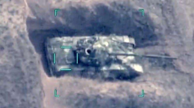 VIVA Militer: Tank T-72 Angkatan Bersenjata Armenia hancur terkena rudal aA