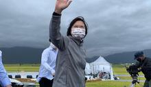 蔡總統參與池上秋收稻穗藝術節 (圖)