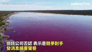 阿根廷驚現兩座「螢光粉紅」湖泊 疑卡車傾倒廢棄物導致