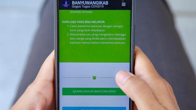 Pelaporan Online Bantuan Sosial Banyuwangi.