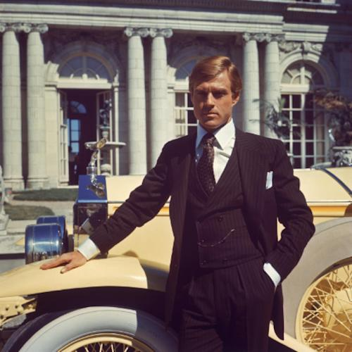 """This undated publicity photo released by courtesy of Paramount Pictures shows Robert Redford as Jay Gatsby in the 1974 film,""""The Great Gatsby,"""" released by Paramount Pictures. (AP Photo/Paramount Pictures)"""