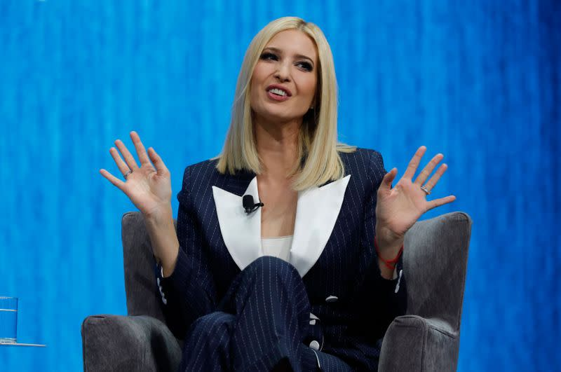 Defying critics, Ivanka Trump draws applause at tech show