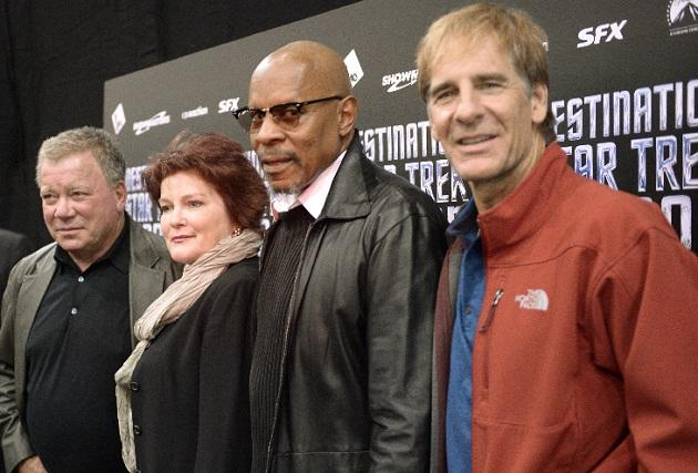 Trekkie heaven: Five captains from 'Star Trek' series appear together