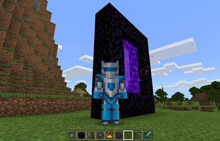 Minecraft Nether Portal Pose