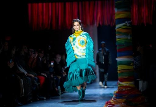 """At Prabal Gurung, autumn looks to be bright and cheerful -- an """"optimistic place,"""" as the designer said in his notes about the collection"""