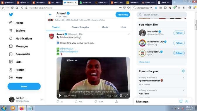 Gabriel Magalhaes resmi diperkenalkan Arsenal (Twitter: Arsenal)