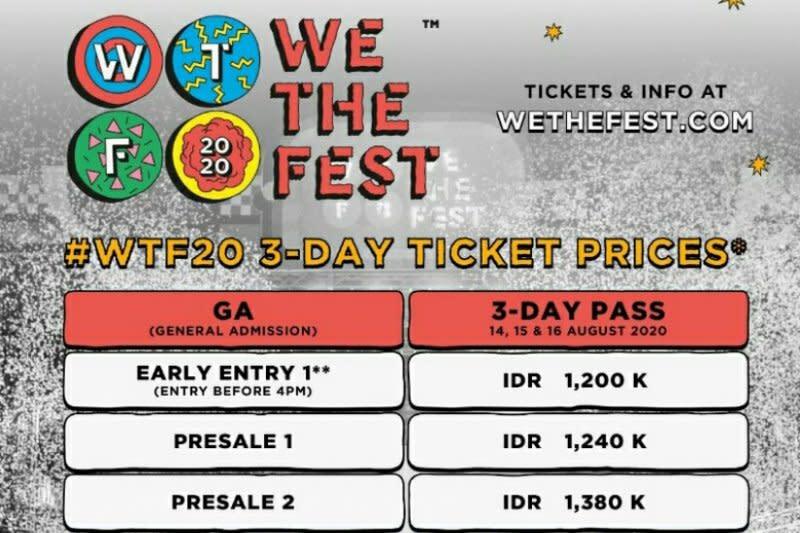 We The Fest 2020 memulai penjulan tiket perdana