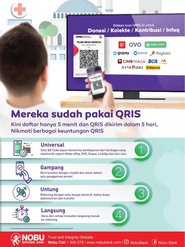 Hanya 5 menit mengisi e-formulir, data akan segera diproses. Setelah itu, kurang dari 5 hari, QRIS akan terkirim ke pendaftar yang berdomisili di Jabodetabek.