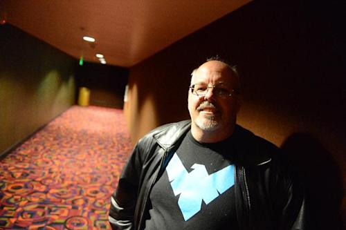 Tom Sullivan, father of slain victim Alex Sullivan, arrives for the reopening and remembrance ceremony at the Century Aurora cinema, formerly the Century 16, Thursday, Jan. 17, 2013 in Aurora, Colo. The cinema is where 12 people were killed and dozens injured in a shooting rampage last July. (AP Photo/The Denver Post, RJ Sangosti, Pool)