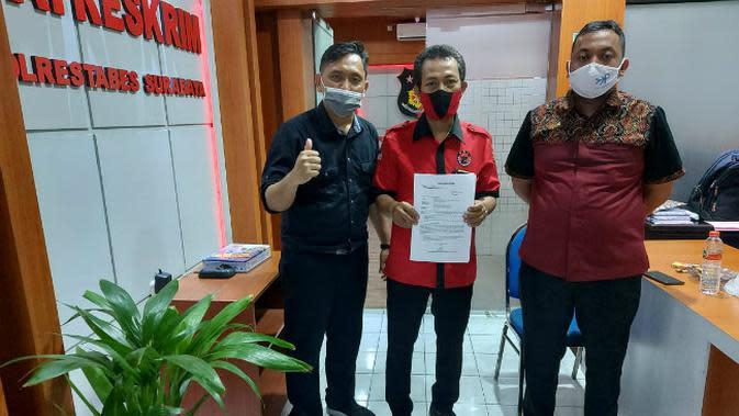 PDIP Surabaya Laporkan Kasus Dugaan Stiker Provokasi Kader ke Polisi