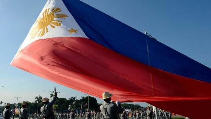 Ilustrasi bendera Filipina (AFP/Noel Cells)