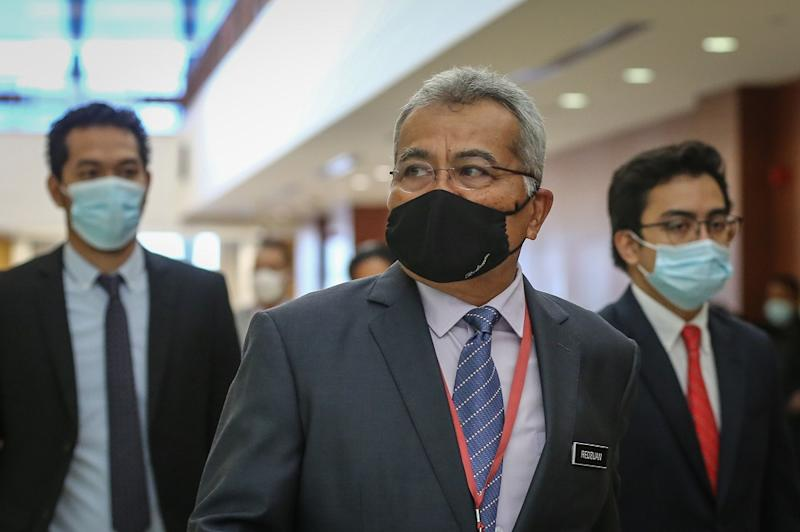 Minister in the Prime Minister's Department Datuk Seri Mohd Redzuan Yusof is pictured at Parliament in Kuala Lumpur July 23, 2020. — Picture by Yusof Mat Isa