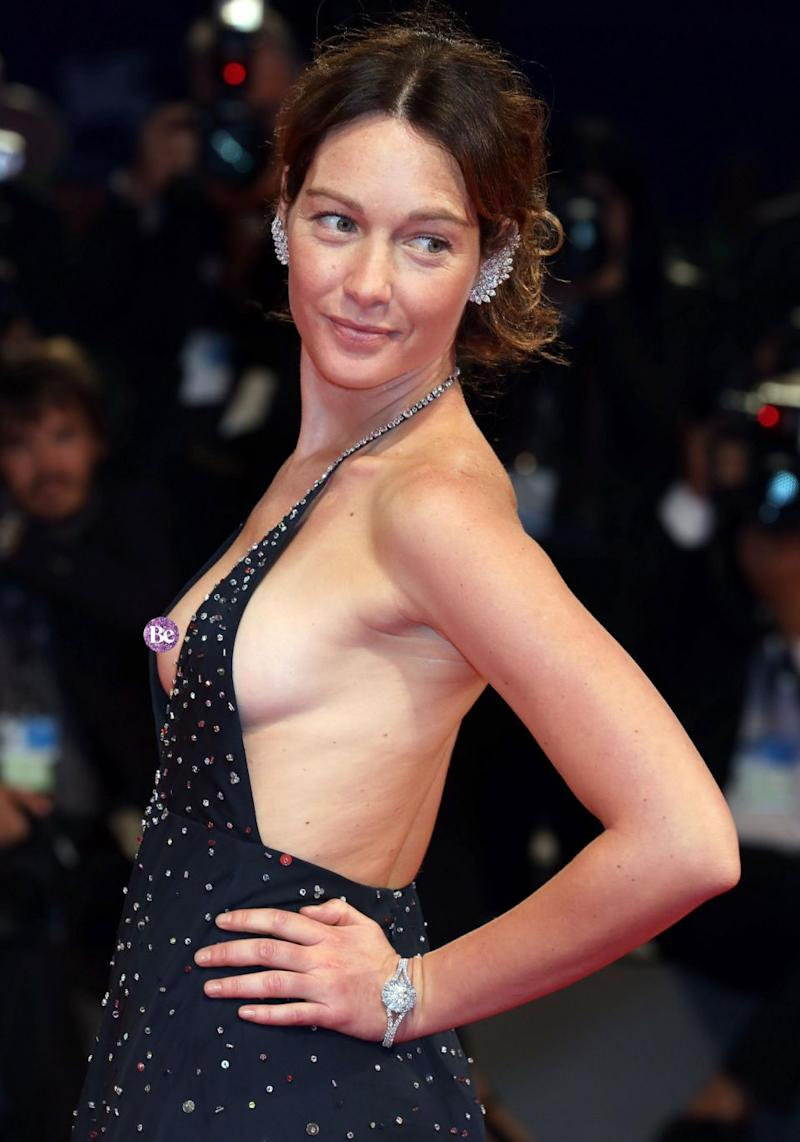 Cristiana Capotondi certainly had heads turning during her recent red carpet appearance at the Venice Film Festival as she suffered a nip slip. Source: Getty