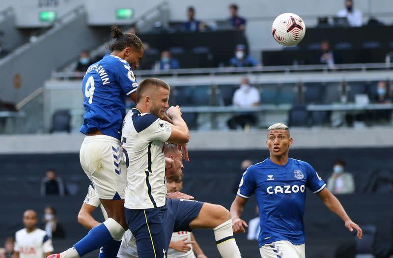 Everton break Tottenham jinx as Calvert-Lewin heads winner