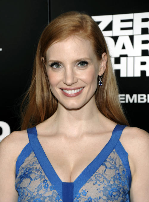 "FILE - In this Monday, Dec. 10, 2012 file photo, actress Jessica Chastain arrives at the premiere of the feature film ""Zero Dark Thirty"" at the Dolby Theatre in Los Angeles. Chastain stars as a dogged CIA officer in ""Zero Dark Thirty,"" a performance that has already earned her best actress nominations from the Golden Globes and the Screen Actors Guild. After a glut of films starring Chastain were released in 2011, the actress says: ""I never think about what's next. I always just think: ""What haven't I done yet?"" (Photo by Dan Steinberg/Invision/AP, File)"