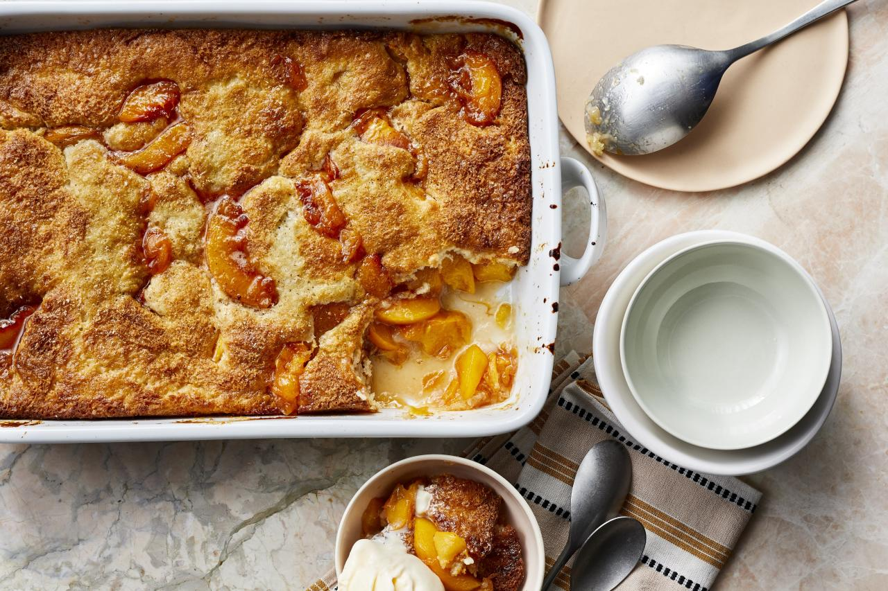 """<p>What could be a more perfect ending to a summertime meal than <a href=""""https://www.myrecipes.com/quick-and-easy"""">easy</a> <a href=""""https://www.myrecipes.com/t/desserts/cobblers/peach-cobblers"""">peach cobbler</a>? Savor the flavors of summer with sliced fresh peaches cooking away with butter and spices. The topping can made from pantry ingredients you have on hand and peaches can easily be substituted with any fruit you have depending on the time of year. The tang of the lemon juice paired with the sweetness of the peaches is perfectly balanced with the crisp topping. Want to make dessert even better? A dollop of fresh whipped cream or cold vanilla ice cream truly makes it the perfect way to end a <a href=""""https://www.myrecipes.com/cooking-method/slow-cooker-recipes/summer-slow-cooker-recipes"""">summer night</a>.</p> <p><a href=""""https://www.myrecipes.com/recipe/easy-peach-cobbler"""">Easy Peach Cobbler Recipe</a></p>"""