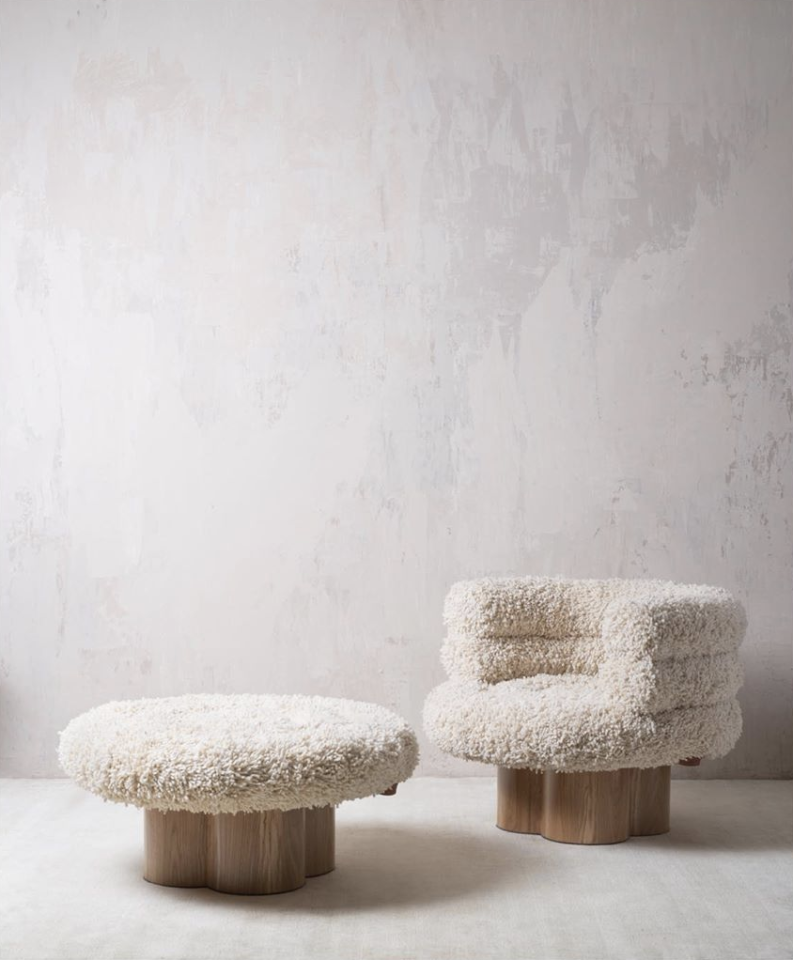 """<p>Estefanía de Ros and Gustavo Quintana split their time between Guatemala City, Guatemala, and Providence, Rhode Island—and their designs for Angnes Studio perfectly combine both aesthetics. From console tables made of volcanic rock and black marble to circular chairs made of Momostenango wool, the duo takes pre-Colombian motifs (the organic materials, rich textures, and time-honored techniques from Indigenous cultures throughout Latin America) and applies them to incredibly chic silhouettes that will elevate any home, anywhere.</p><p><a class=""""body-btn-link"""" href=""""http://agnesstudio.co/"""" target=""""_blank"""">Shop Now</a></p>"""