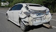 車尾被撞爛! 葉金川台東旅遊遭追撞送醫