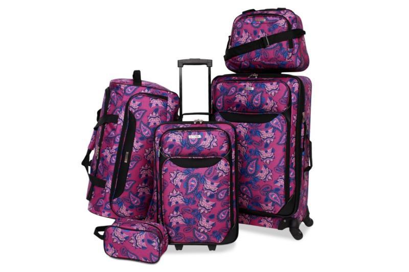 Tag Springfield III Printed 5-Pc. Luggage Set. (Photo: Macy's)