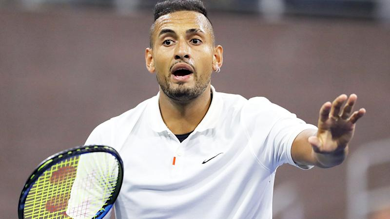 Nick Kyrgios advances at US Open after 'corrupt ATP' comments