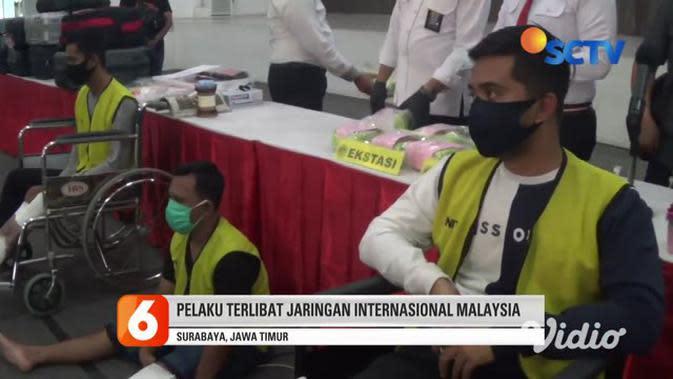 VIDEO: Polisi Bekuk Pengedar Sabu Jaringan Malaysia di Surabaya Timur