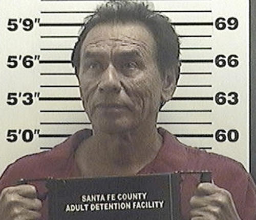 "This July 26, 2013 booking photo, provided by the Santa Fe County Sheriff shows, actor Wes Studi following his arrest on a aggravated drunken driving charge. Police say the star of ""Dances with Wolves"" and ""The Last of the Mohicans"" was arrested early Friday July 26, 2013, in Santa Fe after officers found him in a car with two blown out tires. Officers say Studi refused a breath, field and blood tests. (AP Photo/Santa Fe County Sheriff)"