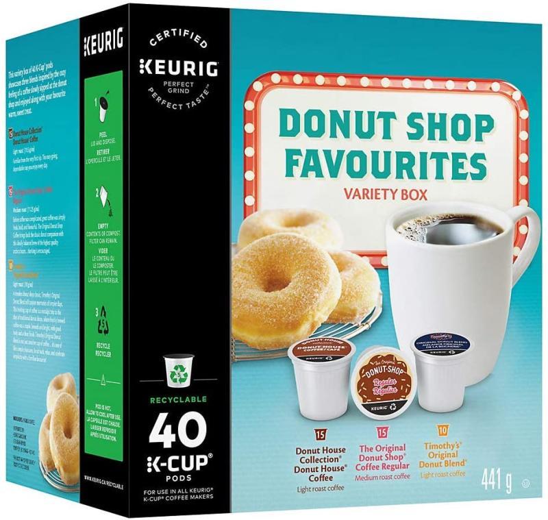 Donut Shop Variety Box Keurig K-Cup Pods