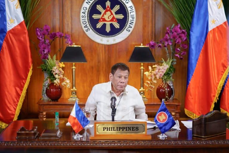 Philippines President Rodrigo Duterte urged ASEAN to leave the Beijing-Washington rivalry well alone