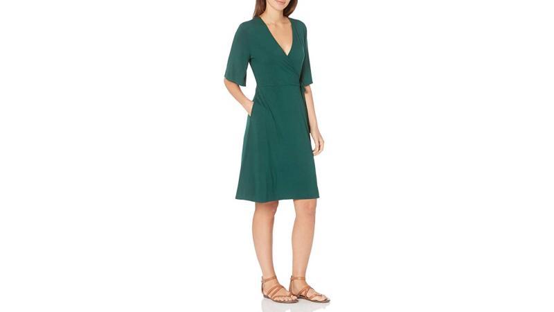 Amazon Essentials Women's Kimono Sleeve Faux Wrap Dress (Photo: Amazon)