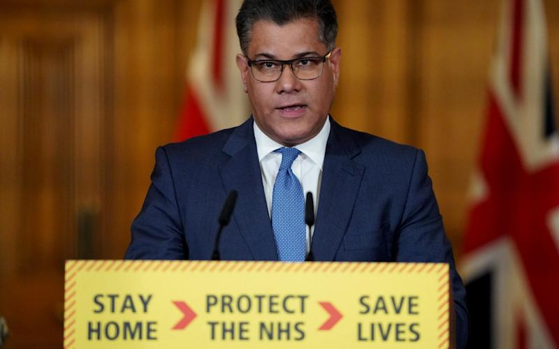 Alok Sharma said the Government had to be careful to avoid a 'second peak' of the virus - Downing Street