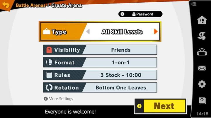 Super Smash Bros Ultimate battle arena
