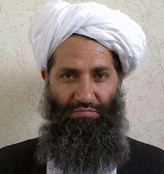 The Taliban issued this undated portrait of Haibatullah Akhundzada in 2016 after announcing he was the group's new supreme leader