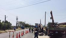 操作吊車誤觸高壓電 嘉義工人重傷送醫 (圖)