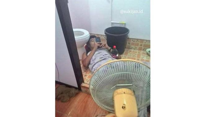 6 Lifehack Pakai Kipas Angin Ini Bikin Geleng Kepala (sumber: Instagram.com/sukijan.id)