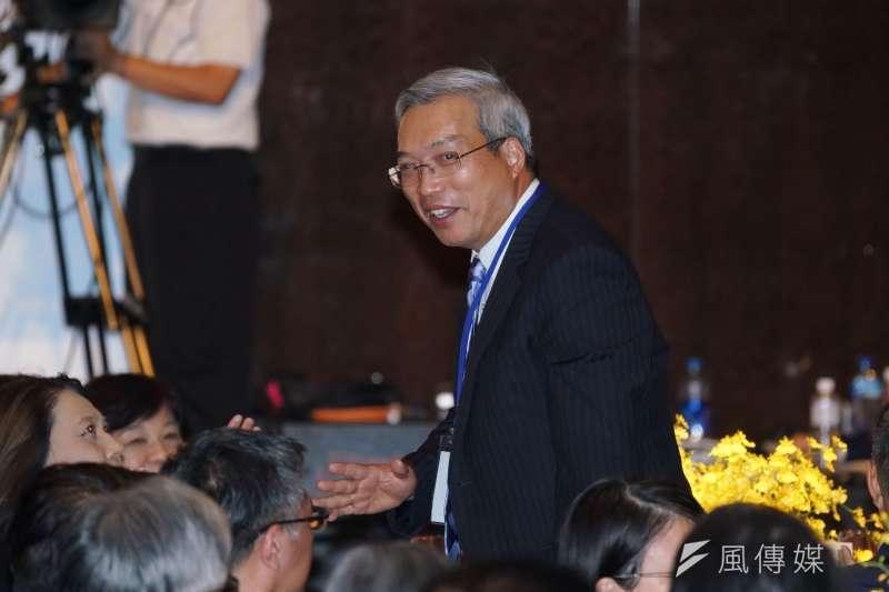 20200917-謝金河17日出席玉山科技協會年會。(盧逸峰攝)