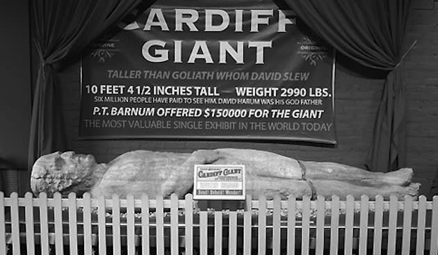 "Oct. 16, 1869: Cardiff Giant ""discovered"" on New York farm"
